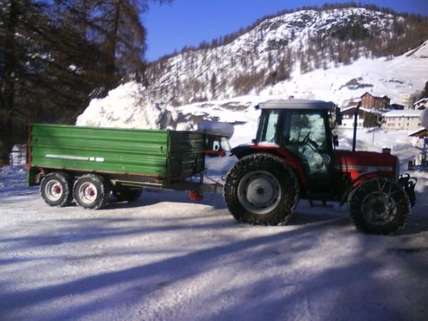 Abtransport von Schnee